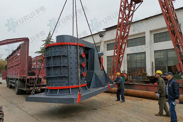 立轴式制砂机发货
