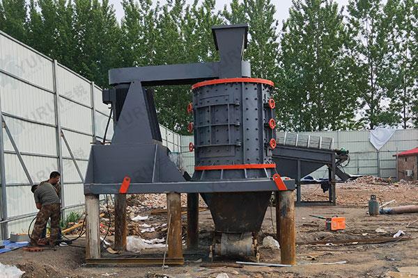 河南三门峡1500型数控制砂机安装现场