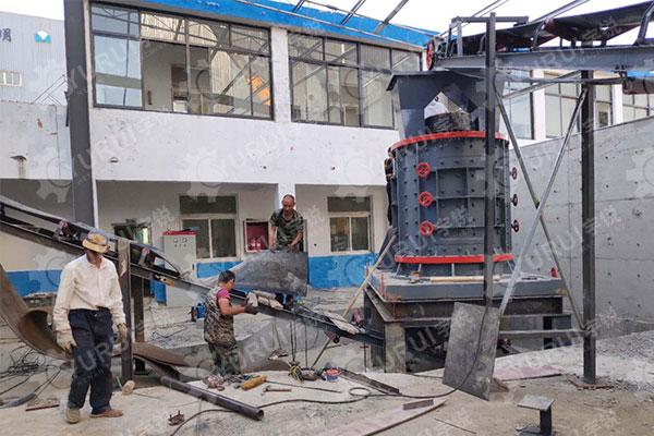 时产100吨立轴制砂机镇江用户现场